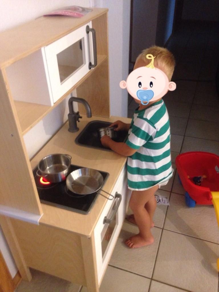 Koch bei der Arbeit.